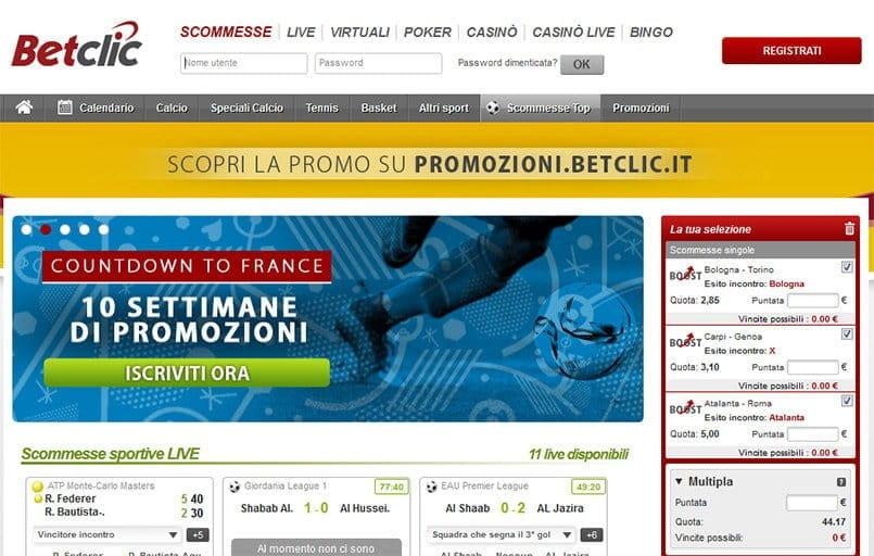 migliori siti di scommesse sportive online - bookmakers italiani 2019