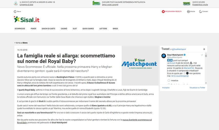 28235cdca2 Tutte le notizie sul Royal Baby per le vostre scommesse speciali sul blog di  Sisal Sisal News su sport e ...