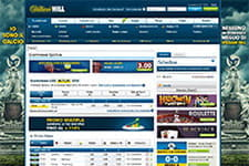 La front page di William Hill