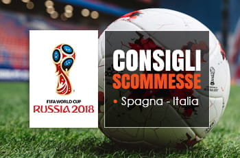 Spagna-Italia: consigli scommesse e logo di Russia 2018