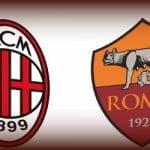 I loghi di Milan e Roma