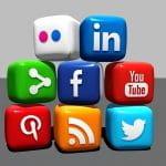 I loghi dei social media più diffusi