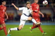 Ciro Immobile in azione con la maglia della Nazionale