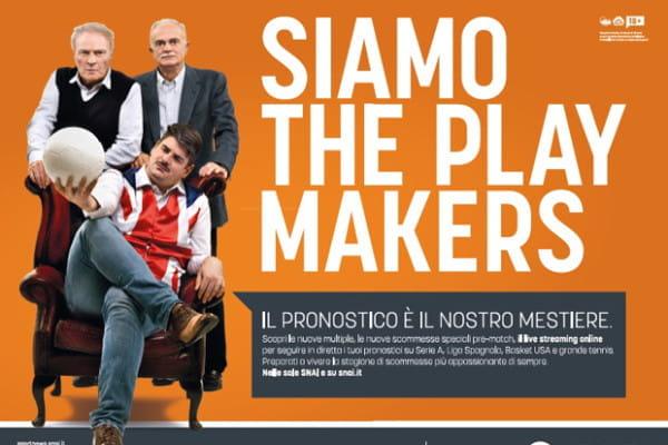 """La promo """"Playmaker"""" di SNAI"""