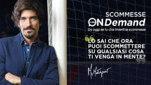 "L'immagine pubblicitaria delle scommesse ""On Demand"" si Sisal Matchpoint"