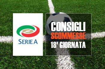 I consigli scommesse della 18a giornata di Serie A 2017/2018
