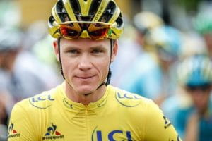 Primo piano di Chris Froome