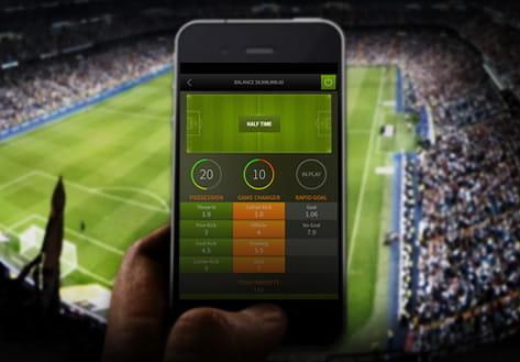 Un'immagine delle scommesse da mobile
