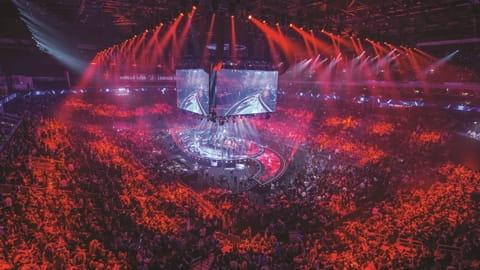 Un'arena durante un torneo di eSports