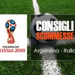 I consigli scommesse di Argentina - Italia