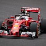 Sebastian Vettel sulla Ferrari SF71H