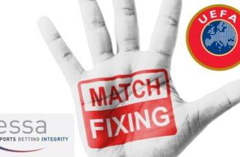 Il logo della campagna ESSA e UEFA contro il match-fixing