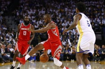 James Harden e Chris Paul in azione