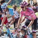 La maglia rosa Dumoulin al Giro d'Italia