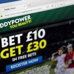La pagina online di Paddy Power inglese