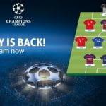 Lo schieramento in campo di una ipotetica squadra di Fantasy League con i protagonisti della Champions League