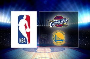 Il logo dell'NBA e quelli dei Golden State Warriors e dei Cleveland Cavaliers