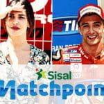 Belen Rodriguez, Andrea Iannone e il logo di Sisal Matchpoint