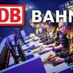 Il logo della Deutsche Bahn e alcuni giocatori di eSports