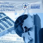 Il logo del ministero dell'economia e delle finanze quello dell'agenzia dogane monopoli