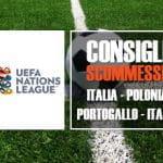I consigli scommesse per gli incontri di Nations League Italia-Polonia e Portogallo-Italia