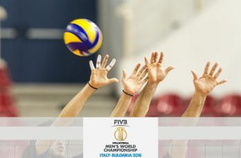 Il logo del volleyball men's world championship 2018
