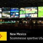 Una sala scommesse e la scritta scommesse sportive USA bandiera New Mexico