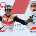 Marc Márquez e Lewis Hamilton
