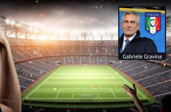 Stadio calcio foto Gabriele Gravina logo FIGC
