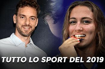 """Pau Gasol, Simona Quadarella e la scritta """"Tutto lo sport del 2019"""""""