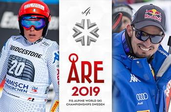 Federica Brignone, il logo dei mondiali di sci alpino di Åre, Dominik Paris
