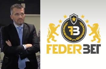 Francesco Baranca, segretario di Federbet, e il logo dell'associazione