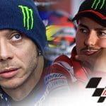 Valentino Rossi, Jorge Lorenzo, il logo della MotoGP
