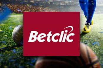 Alcuni sportivi in azione e il nuovo logo di Betclic