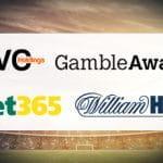 I loghi di GVC, William Hill, bet365 e GambleAware