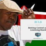 MC Moreydoc, la bandiera del Kenya e il logo dell'autorità di controllo kenyota di gioco e scommesse