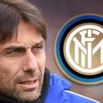 Antonio Conte e il logo dell'Inter