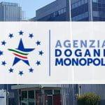 La sede e il logo dell'Agenzia Dogane e Monopoli