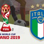 Andrea Pinamonti, il logo dei Mondiali di calcio Under 20 2019