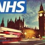 Londra e il logo della NHS