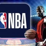 Un giocatore di basket generico con la casacca rossa e il logo NBA