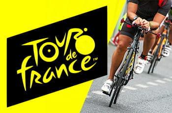 Un ciclista generico e il logo del Tour de France