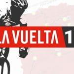 La sagoma di un ciclista e il logo della Vuelta 2019