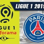 Il logo della Ligue 1 e lo stemma del Paris Saint-Germain