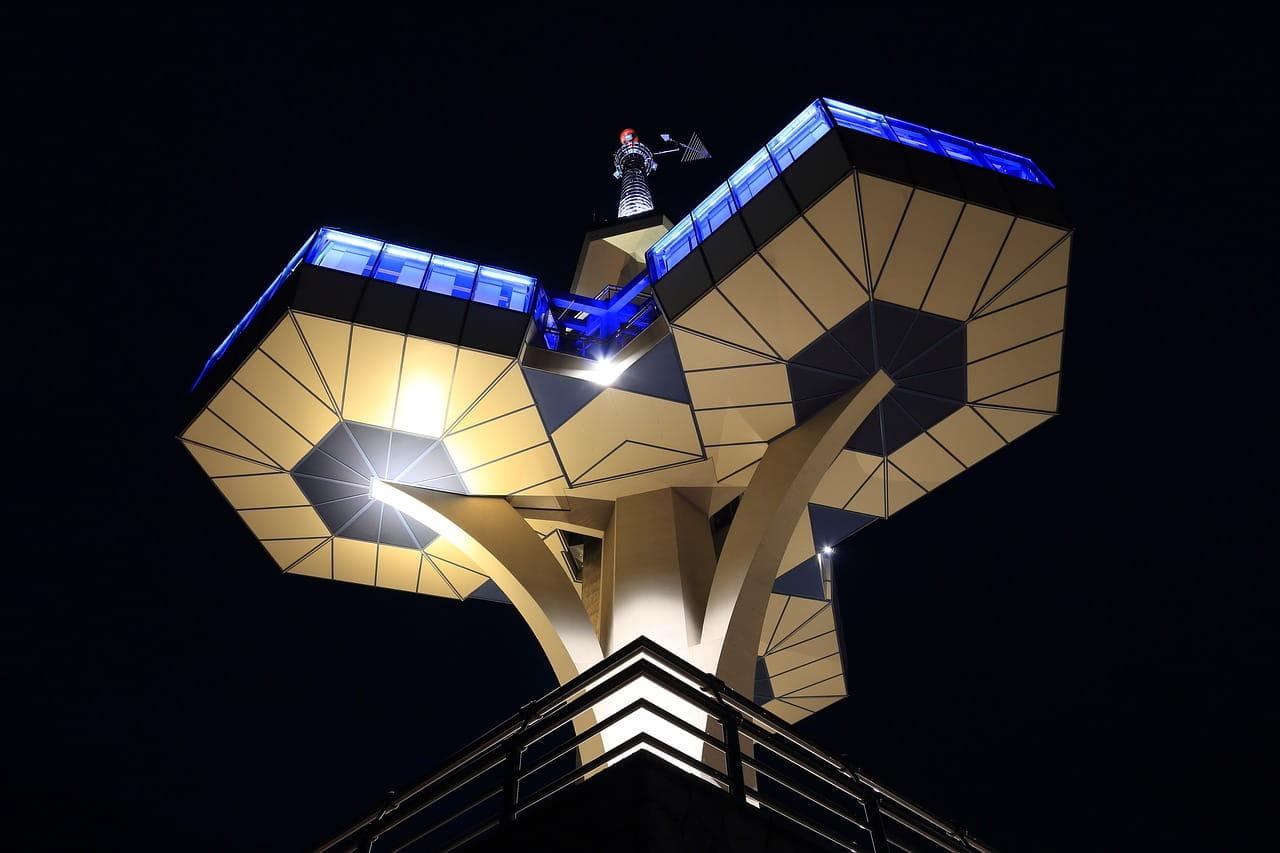 La torre delle telecomunicazioni a Podgorica, in Montenegro.