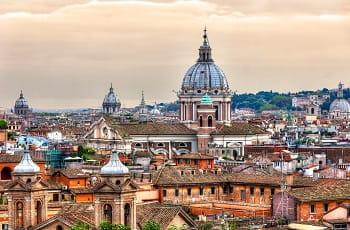 Una veduta dall'alto di Roma