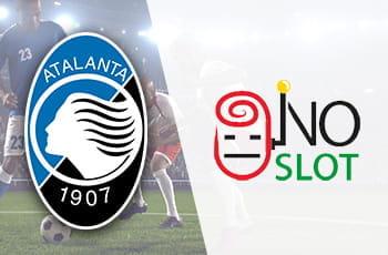 Il logo della squadra di calcio dell'Atalanta, il logo dell'iniziativa No slot