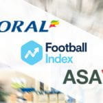 I loghi di Coral, Football Index e ASA