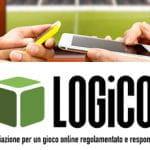 Due persone con tablet e smartphone davanti a uno schermo che trasmette una partita di calcio e il logo di LOGiCO