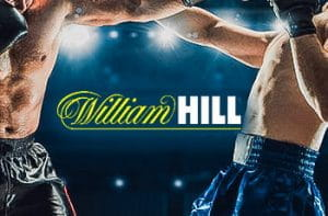 Il logo William Hill, due pugili generici in combattimento